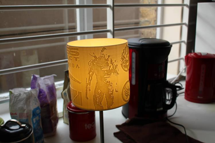 Mass Effect - Litho Lamp Shade 3D Print 137593