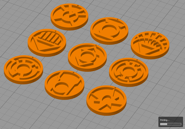 Lantern Corps ( ALL Corps LOGO's) 3D Print 137596