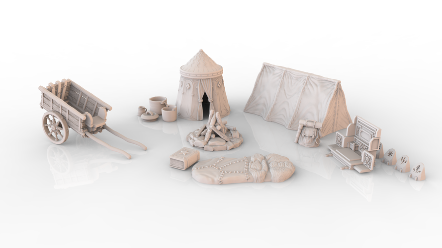 HG3D Adventurers 'Long Rest' Pack - 28mm 3D Print 137631