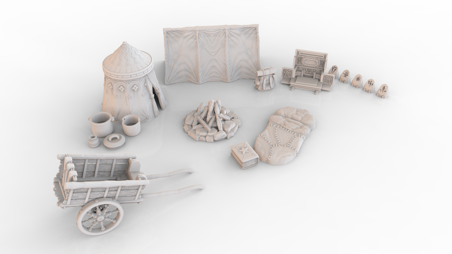 HG3D Adventurers 'Long Rest' Pack - 28mm 3D Print 137632