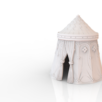 Small HG3D Adventurers Tourney Tent - 28mm 3D Printing 137643