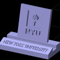 Small NYU New York University Phone Stand (3 designs) 3D Printing 137652