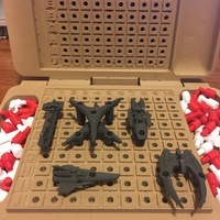Small Battlestar Galactica Expansion Pack for BattleFleet Game 3D Printing 137654