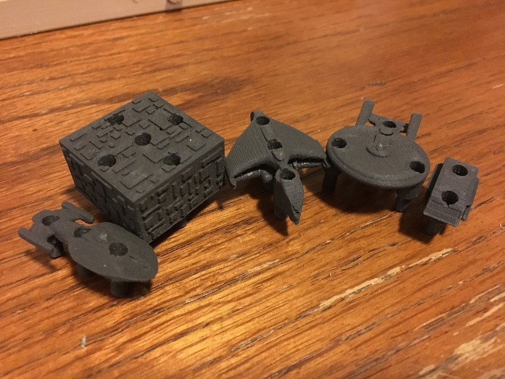 3d printed battlefleet star wars vs star trek by chemteacher628 pinshape