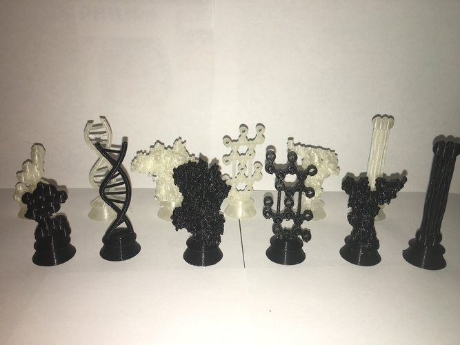 Biochemistry Chess Set 3D Print 137729