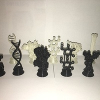 Small Biochemistry Chess Set 3D Printing 137729