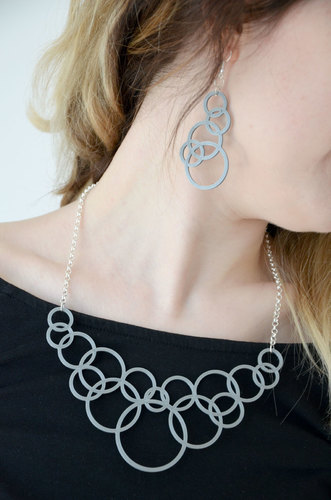 Bubble Jewelry Set 3D Print 137763