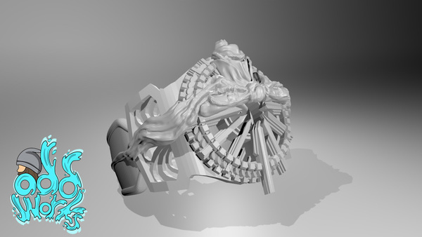 Medium final fantasy 15 ring of the lucii 3D Printing 137869