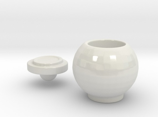 round jar with lid 3D Print 13790