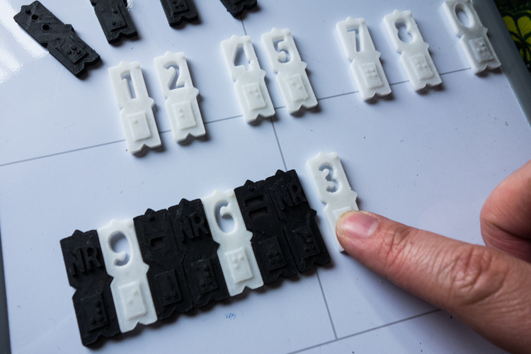Magnetic braille blocks - Numbers 3D Print 137916