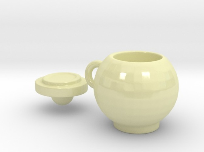 Round mug with lid 3D Print 13796