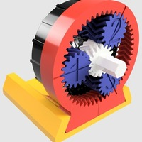 Small 1379:1 Gearbox 3D Printing 137962