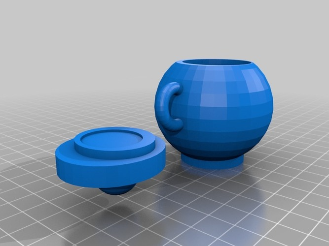 Round mug with lid 3D Print 13797