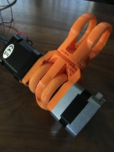 Modular Robotic Arm, Hinge Joint, No Hardware  3D Print 137974