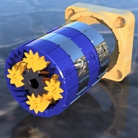 Small Differential Planetary Gearbox 43.3:1 No Hardware, Less Backlash 3D Printing 137978