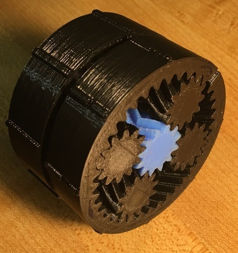Harmonic Planetary Gear Box (37:1 or 49.3:1) NEMA 17, No Hardwar 3D Print 137994