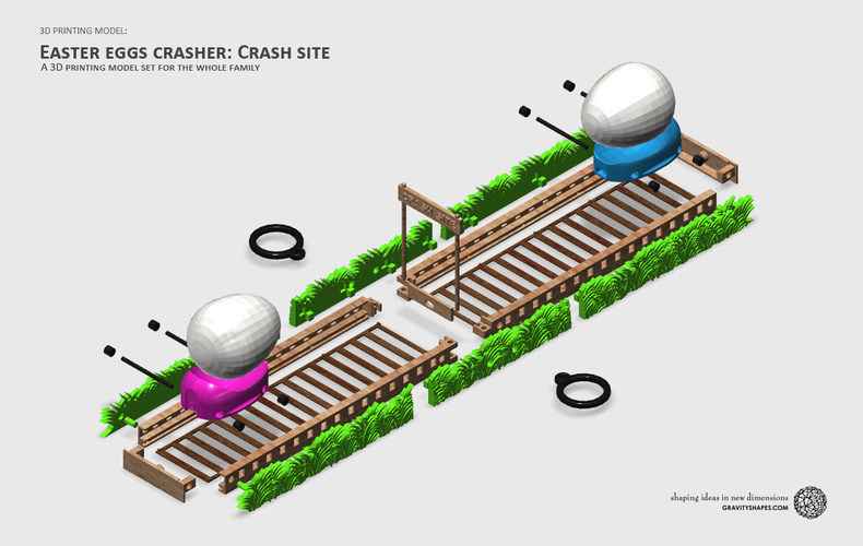 Easter Eggs Crasher: Crash Site 3D Print 138008