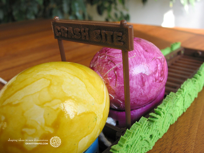 Easter Eggs Crasher: Crash Site 3D Print 138012