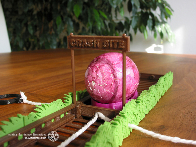 Easter Eggs Crasher: Crash Site 3D Print 138014