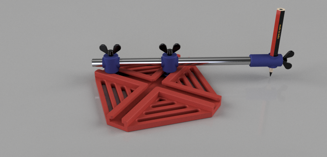 Ellipse drawing jig 3D Print 138025