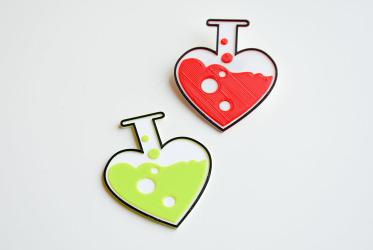 Love chemistry brooch/pin 3D Print 138055