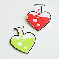Small Love chemistry brooch/pin 3D Printing 138055