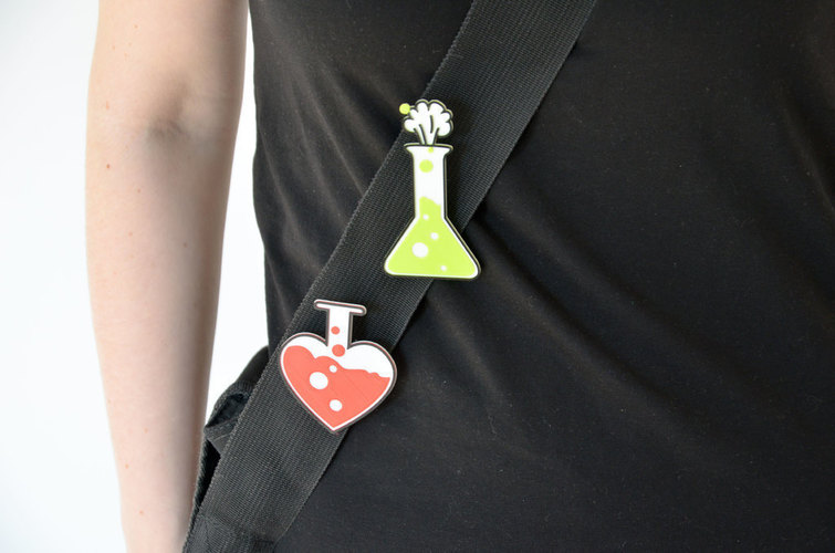 Love chemistry brooch/pin 3D Print 138056