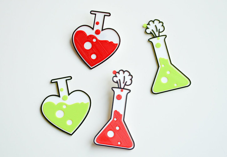 Love chemistry brooch/pin 3D Print 138059