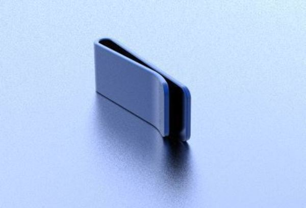 Medium Money Clip 3D Printing 138061