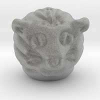 Small cat head 3D Printing 13807