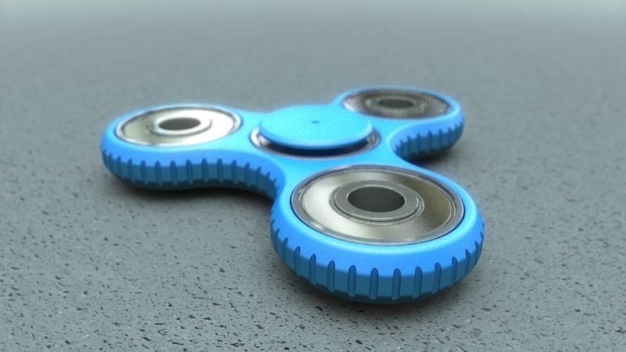 Tri-spinner (parametric, with sources) 3D Print 138088