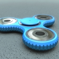 Small Tri-spinner (parametric, with sources) 3D Printing 138088