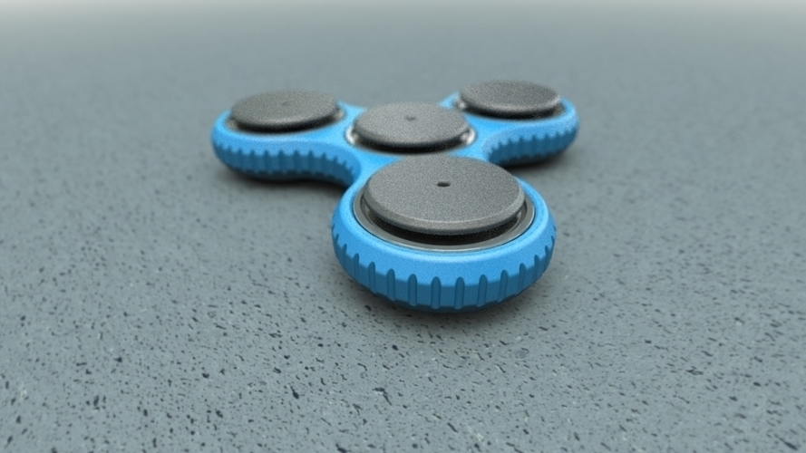 Tri-spinner (parametric, with sources) 3D Print 138089