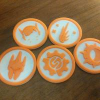 Small Overwatch tokens 3D Printing 138220