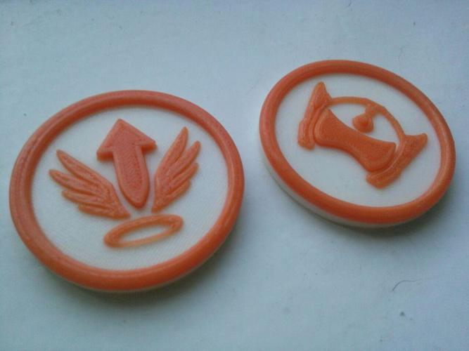 Overwatch tokens 3D Print 138223