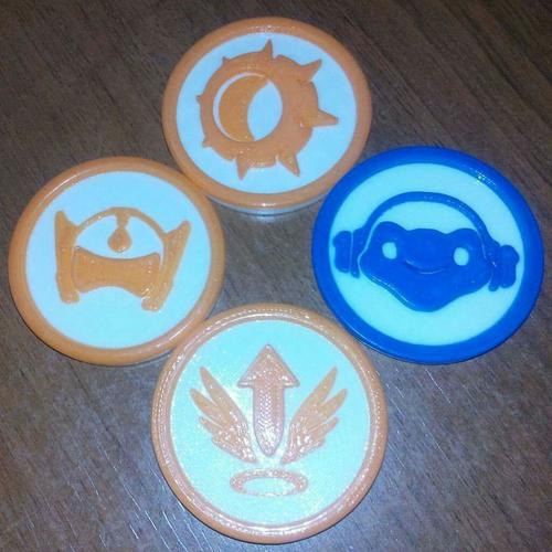 Overwatch tokens 3D Print 138225