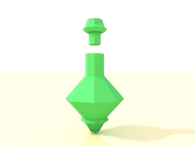 Low poly potion bottle 3D Print 138275