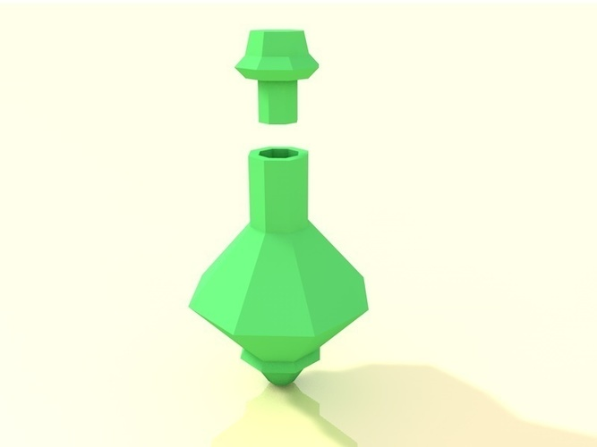 Low poly potion bottle 3D Print 138276