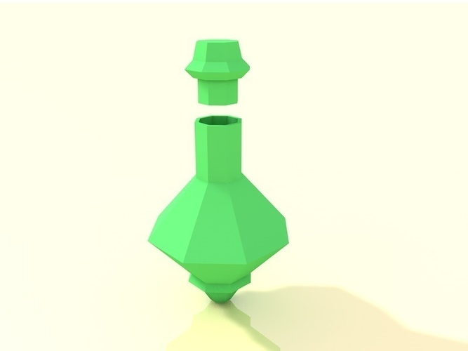 Low poly potion bottle 3D Print 138279