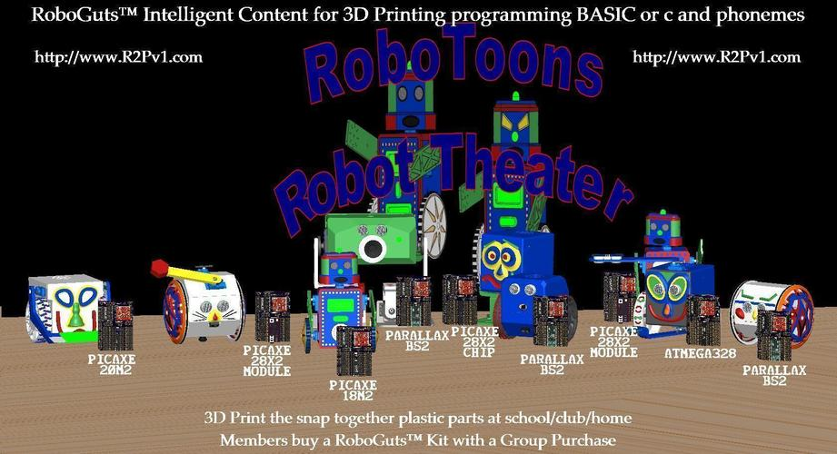 BillyBot Kit 3D Print 138293
