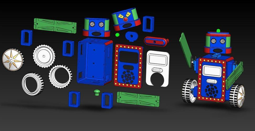 BillyBot Kit 3D Print 138296
