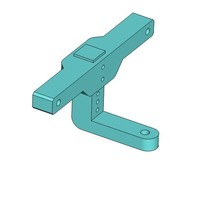 Small Vaterra Ascender Trailer Hitch 3D Printing 138298