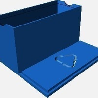 Small Customizable card box with recycle symbol lid 3D Printing 138336
