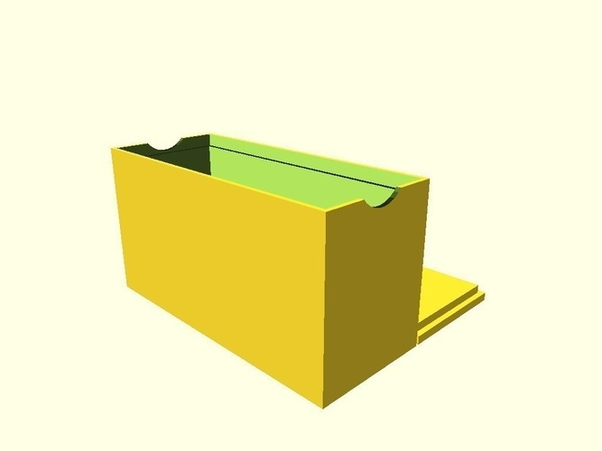 Customizable card box with recycle symbol lid 3D Print 138337