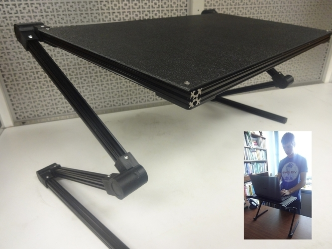 Adjustable Laptop Stand 3D Print 138344