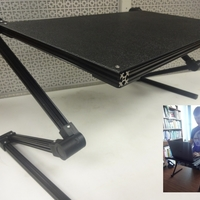 Small Adjustable Laptop Stand 3D Printing 138344
