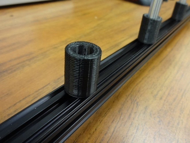 3D Printed OpenBeam Optical Rail Simple Rod Holder by Pearce ... on