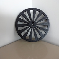 Small Parametric open-source chopper wheel 3D Printing 138380