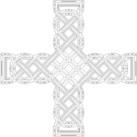 Small Celtic Crosses 3D Printing 138397