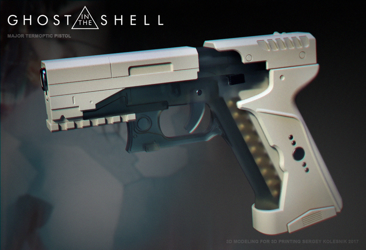 Ghost in the shell -Major termoptic pistol 3D Print 138416